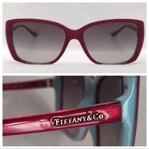 TIFFANY TF4079 Berry Fuchsia on TF Blue sz 57 wide